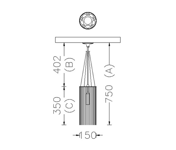 Circular Cropped 150 Pendant Lamp de Willowlamp | Iluminación general