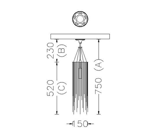 Circular Willow 150 Pendant Lamp de Willowlamp | Éclairage général