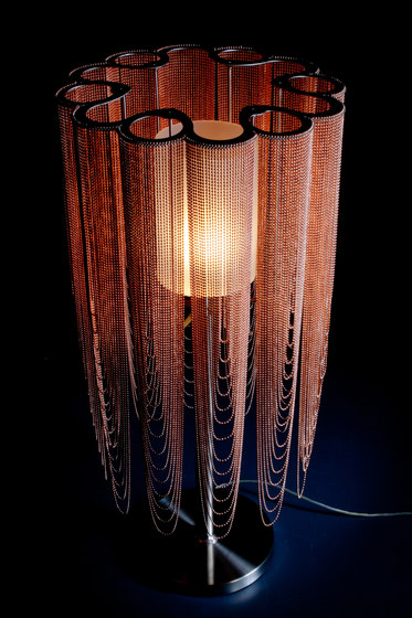 Scalloped Looped 400 Table Lamp by Willowlamp | Table lights