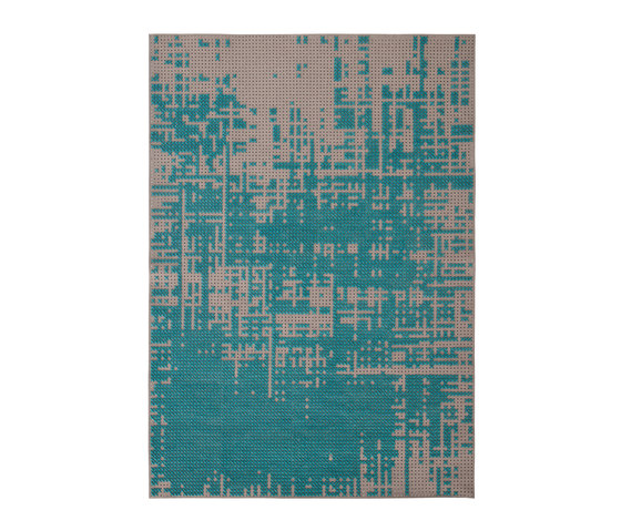 Canvas Rug Abstract Green 9–10 di GAN | Tappeti / Tappeti d'autore