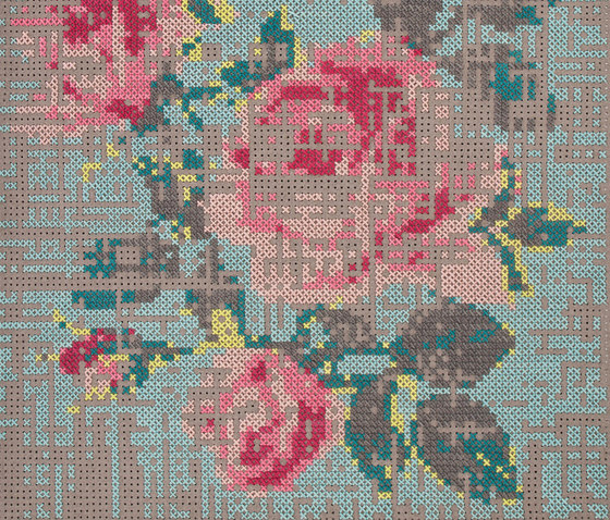 Canevas Rug Flowers Colour 1–3 by GAN | Rugs / Designer rugs
