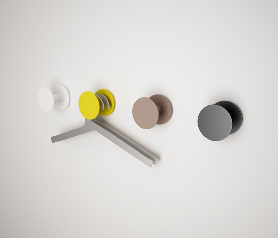 Point O round by Systemtronic | Coat hooks