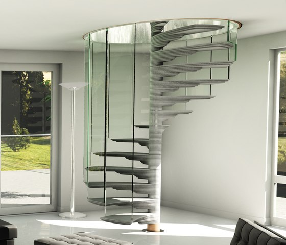 Rotor by Siller Treppen | Concrete stairs