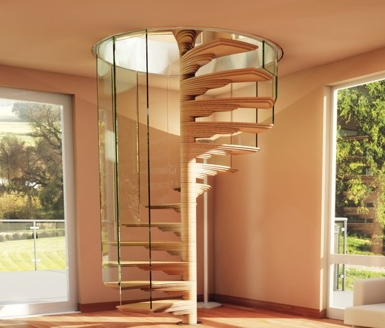 Rotor by Siller Treppen | Glass stairs