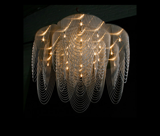 Rose - 700 - ceiling mounted | option straight/looped by Willowlamp | Chandeliers