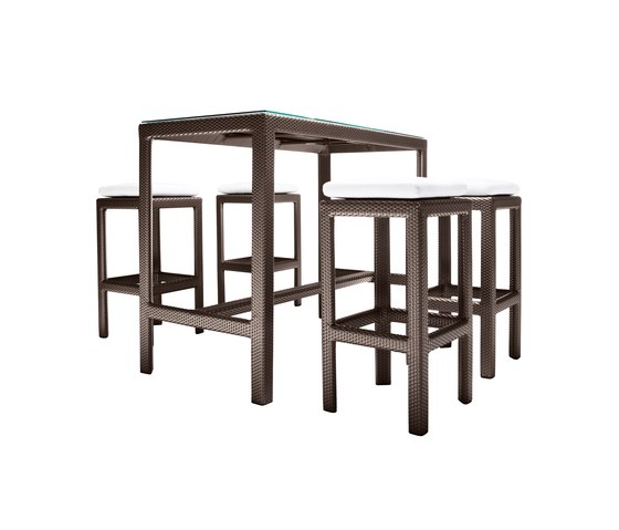 Soho Bar table & stools by DEDON | Bar stools