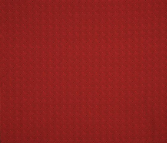 Coria chocolate-rojo by Gastón y Daniela | Curtain fabrics