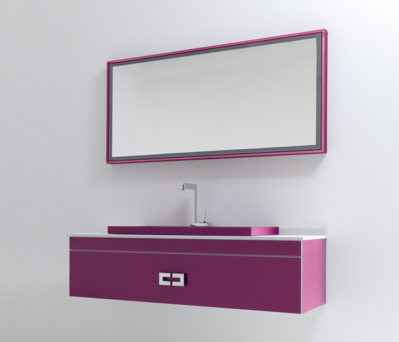 Fussion Flat Bordeaux by FIORA | Vanity units