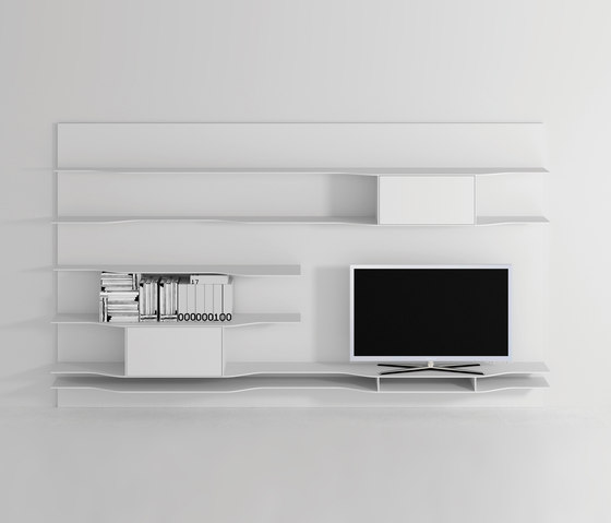 Wave wall system by MDF Italia | Shelves