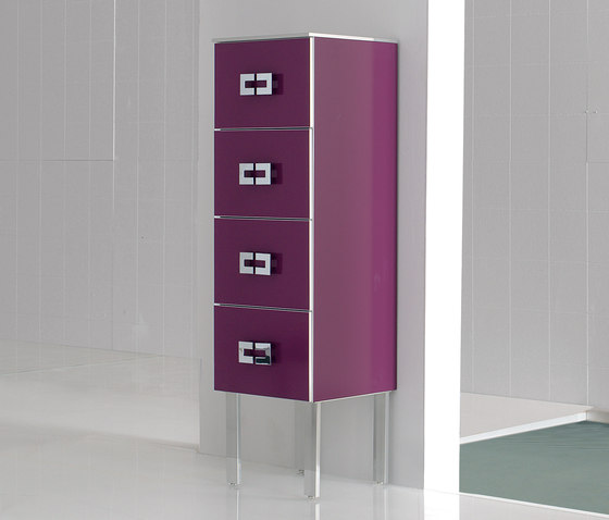 Fussion Flat Bordeaux by FIORA | Wall cabinets