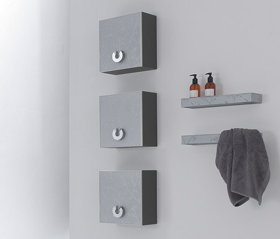 Fussion Silver Flowers by FIORA   Wall cabinets