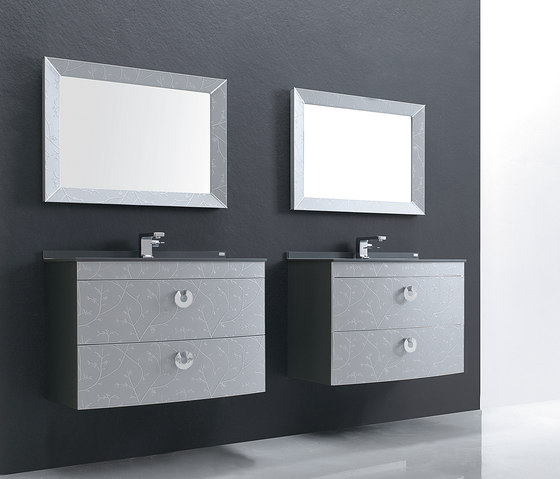 Fussion Silver Flowers by FIORA | Vanity units
