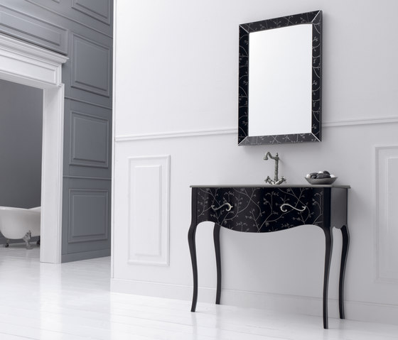 Vivaldi Flowers Black by FIORA | Vanity units