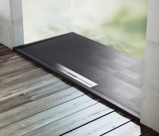Avant Negro by FIORA | Shower trays