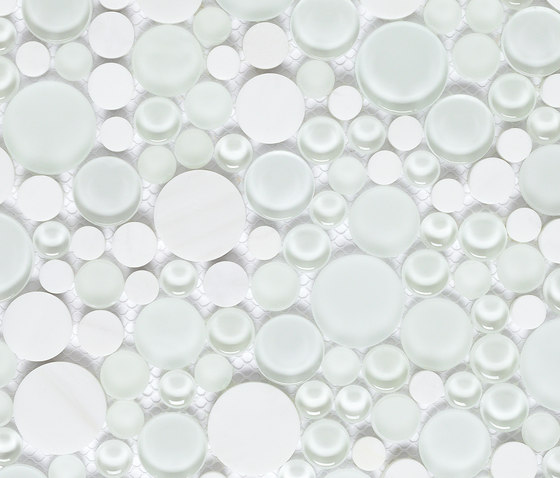 Snow by Dune Cerámica | Glass mosaics