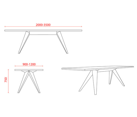 Busy Table Square by MY KILOS | Dining tables