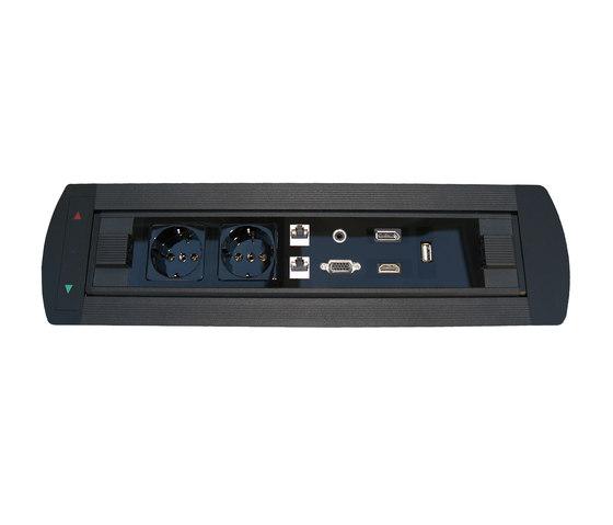 Design Line desk connector panel by KOMTECH | Schuko sockets