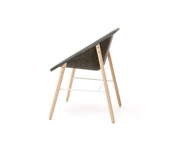 Kola Light Wood di Inno | Sedie visitatori