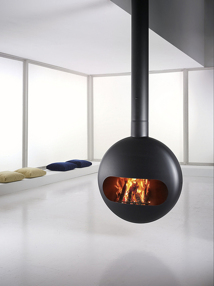 Bubble ceiling wood by antrax it | Wood fireplaces