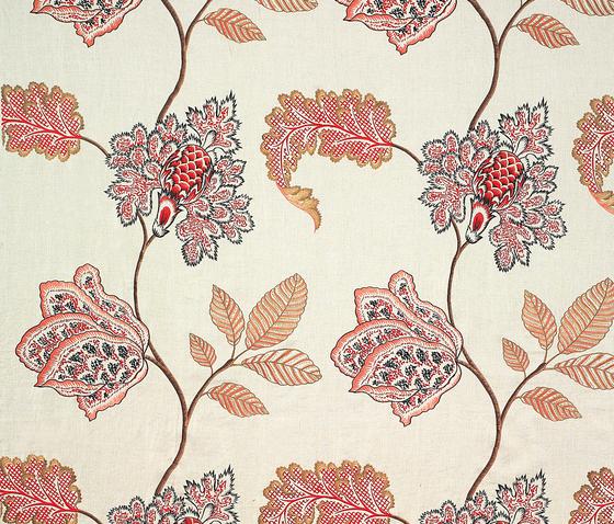 Martinica rojo-fondo-lino by Gastón y Daniela | Curtain fabrics