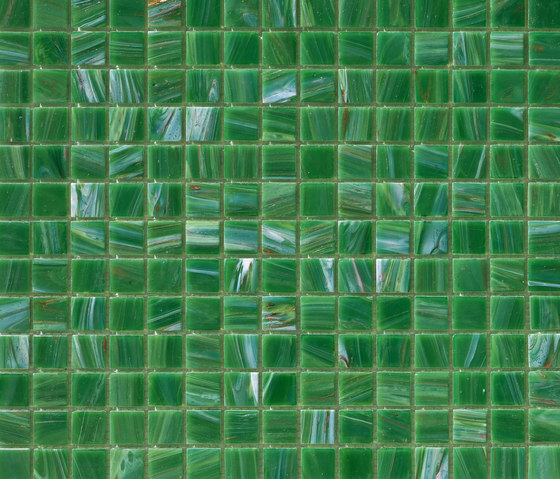 Aurore 20x20 Verde M. von Mosaico+ | Glas Mosaike