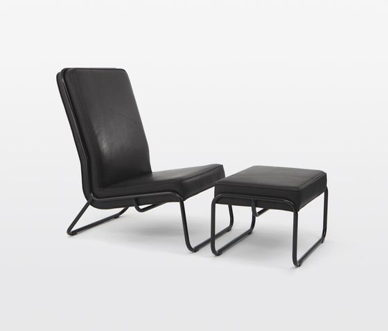 Fancy Easy Chair with Ottoman by STILTREU | Lounge chairs