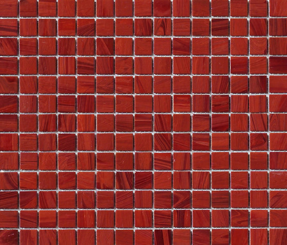 Aurore 20x20 Amaranto by Mosaico+ | Glass mosaics