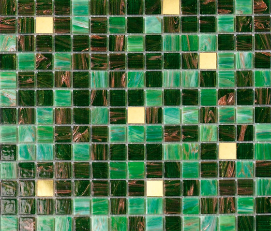 Cromie Oroverde by Mosaico+ | Glass mosaics