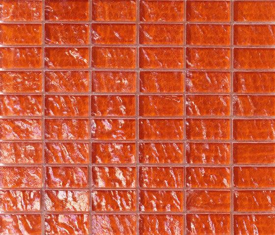 Onde 23x48 Arancio R de Mosaico+ | Mosaïques verre