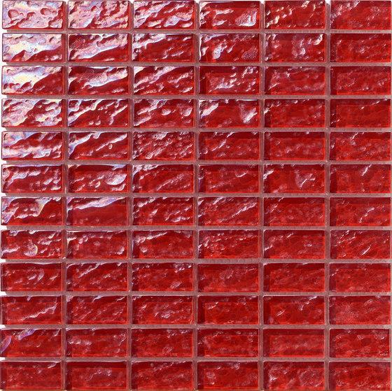 Onde 23x48 Rosso R de Mosaico+ | Mosaïques verre