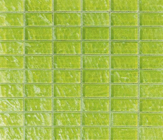 Onde 23x48 Verde R by Mosaico+ | Glass mosaics