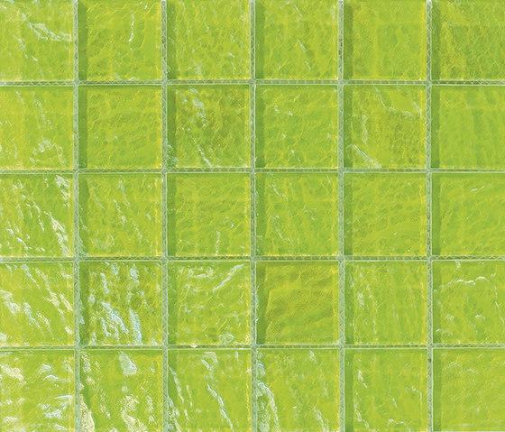 Onde 48x48 Verde Q by Mosaico+ | Glass mosaics