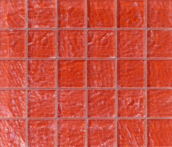 Onde 48x48 Rosso Q by Mosaico+ | Glass mosaics