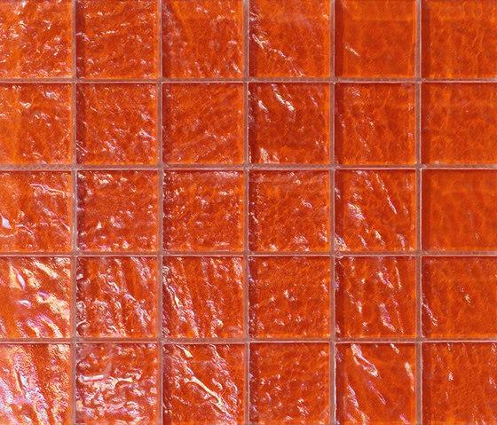 Onde 48x48 Arancio Q di Mosaico+ | Mosaici vetro