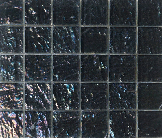 Onde 48x48 Antracite Q by Mosaico+ | Glass mosaics