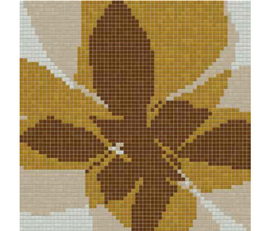 Studio Flowers Fiore Pop D by Mosaico+ | Glass mosaics