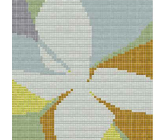 Studio Flowers Fiore Pop B von Mosaico+ | Glas Mosaike