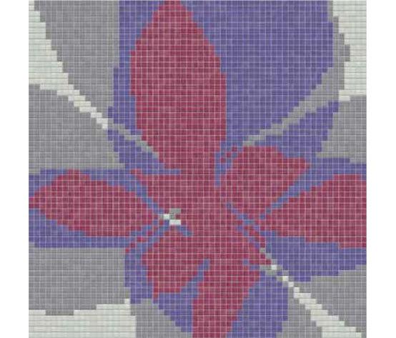 Studio Flowers Fiore Pop E von Mosaico+ | Glas Mosaike