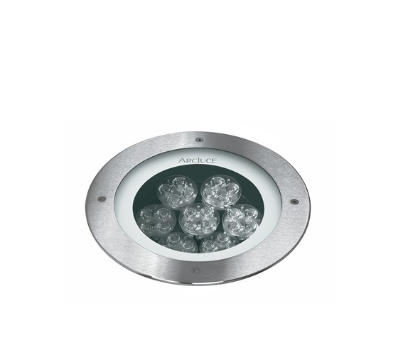 Inground 260 front ring flush with ground by Arcluce | Spotlights