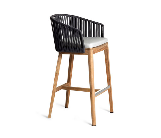 Mood Bar Chair | Teak de Tribù | Taburetes de bar de jardín
