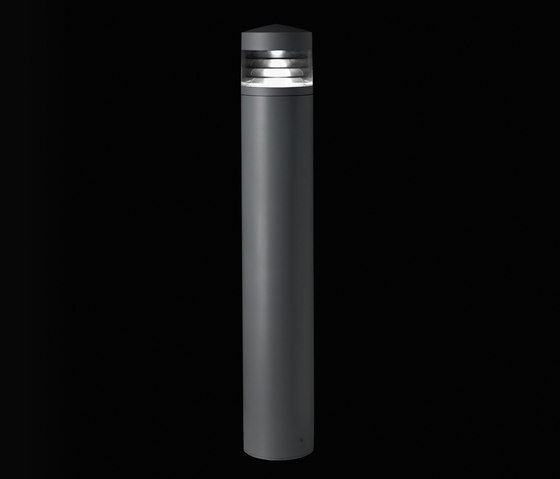 Klou 180 with louvre H=500 by Arcluce | Bollard lights