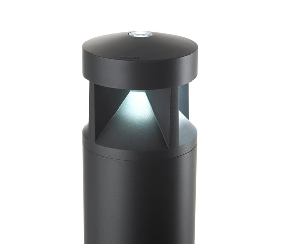 Klou-IK 180 radial illumination - with decorative glass by Arcluce | Bollard lights
