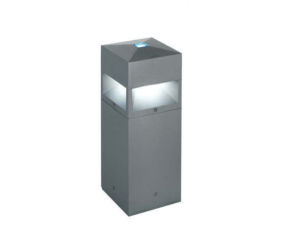 Kubix 180 radial illumination - with decorative glass by Arcluce | Bollard lights