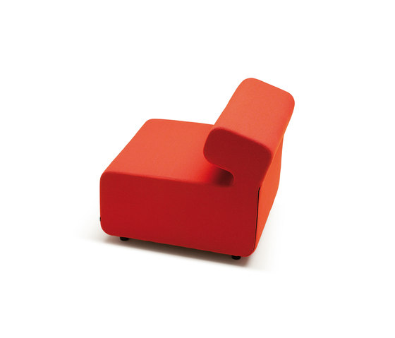 Up 1-Seater with backrest by Fora Form | Modular seating elements