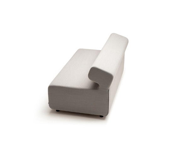 Up 2-Seater with backrest by Fora Form | Modular seating elements