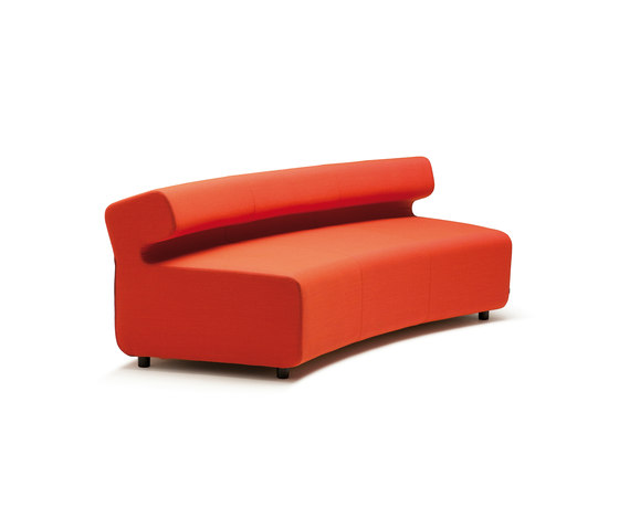 Up 3-Seater curved with backrest by Fora Form | Modular seating elements