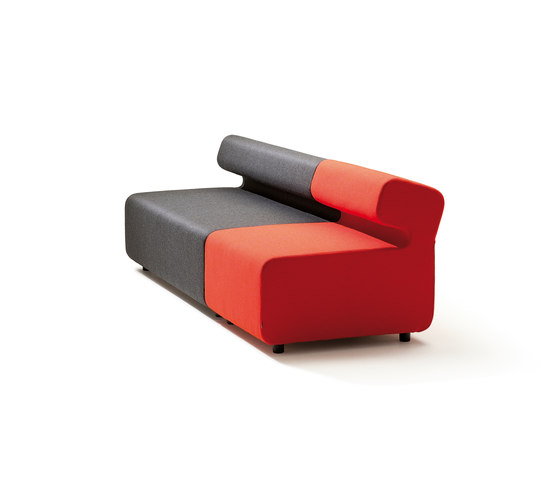 Up 3-Seater with backrest by Fora Form | Modular seating elements