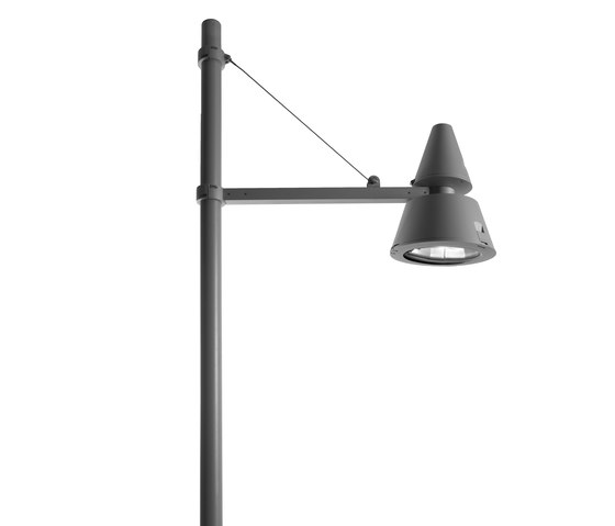 Lester single light fitting cone by Arcluce | Street lights