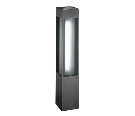 Quadrio 180 full light - with opalescent diffuser by Arcluce | Bollard lights