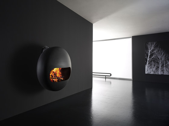 Bubble wall wood by antrax it | Wood fireplaces